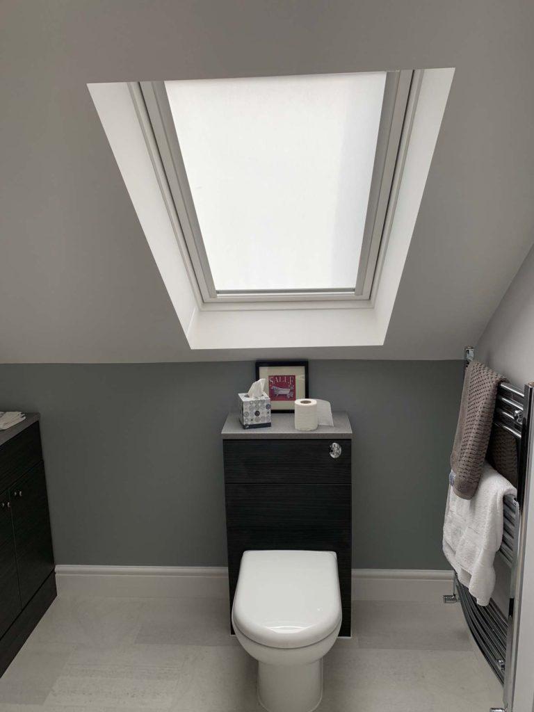 Toilet in loft conversion