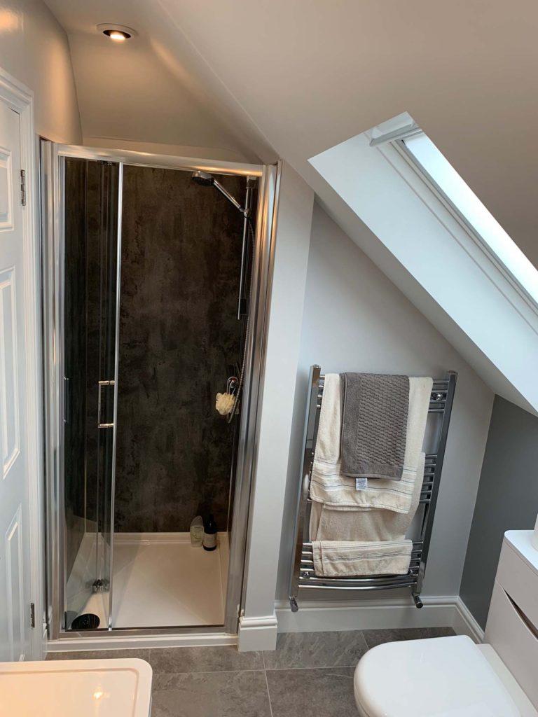 Shower in loft conversion