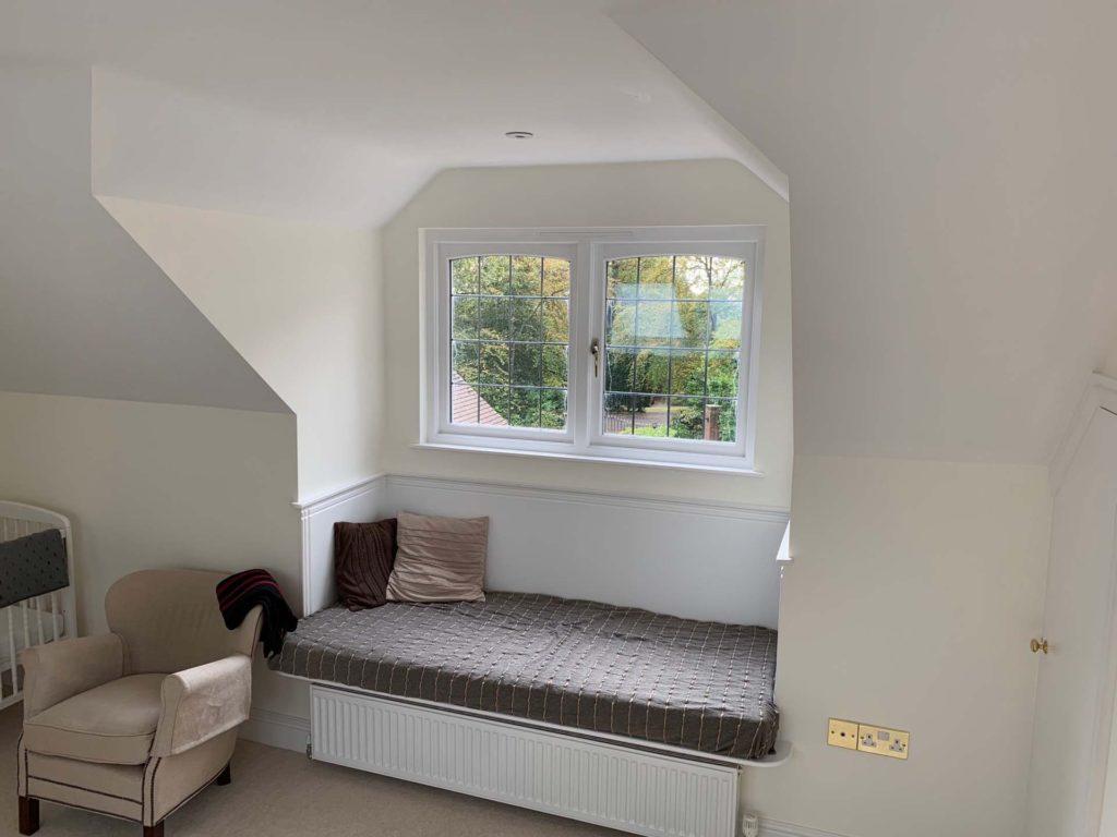 Window shot in complete loft conversion